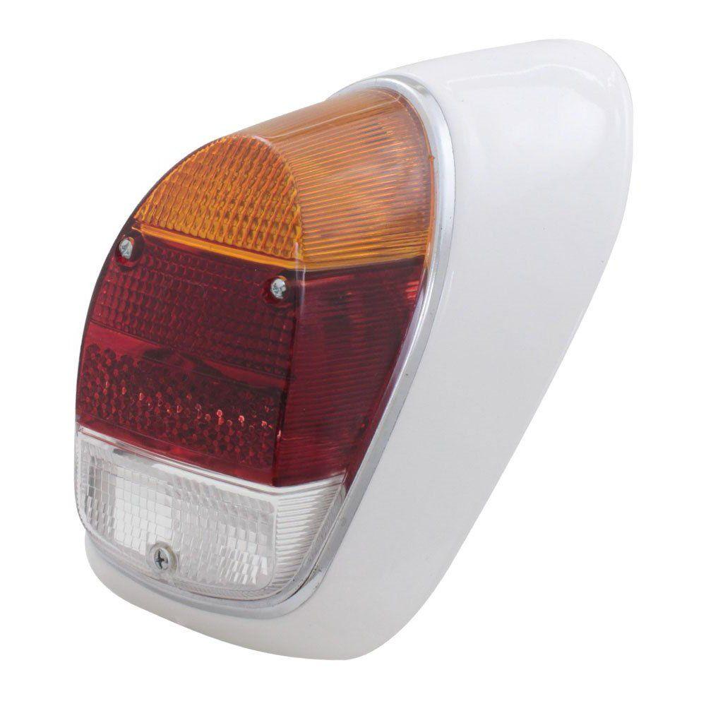 Lanterna traseira tricolor para VW Fusca 1500 e 1600-S - Lado do Passageiro  - Bunnitu Peças e Acessórios