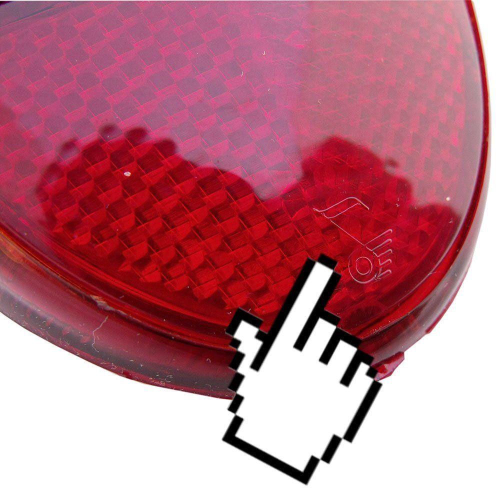 Lanterna traseira toda vermelha para VW Fusca 1200 1300 - Lado do Motorista  - Bunnitu Peças e Acessórios