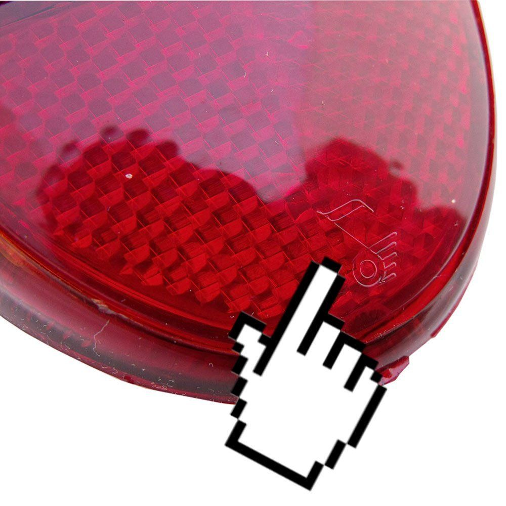 Lanterna traseira toda vermelha para VW Fusca 1200 1300 - Lado do Passageiro  - Bunnitu Peças e Acessórios