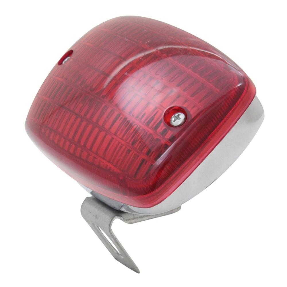 Lanterna Universal Cromada Luz Freio Auxiliar Neblina Carro Antigo Fusca Brasilia Variant Kombi SP2 Veraneio  - Bunnitu Peças e Acessórios