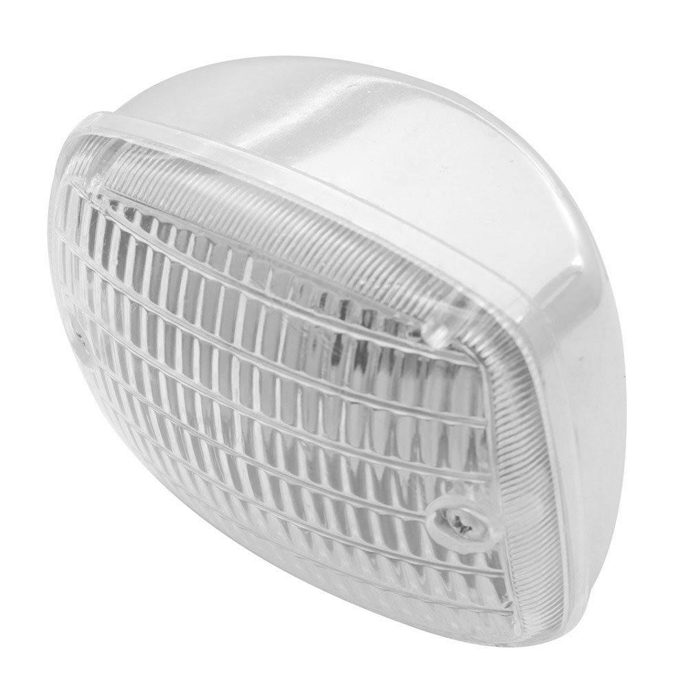 Lanterna Universal Cromada Luz Ré Auxiliar Milha Carro Antigo Fusca Brasilia Variant Kombi SP2 Veraneio  - Bunnitu Peças e Acessórios