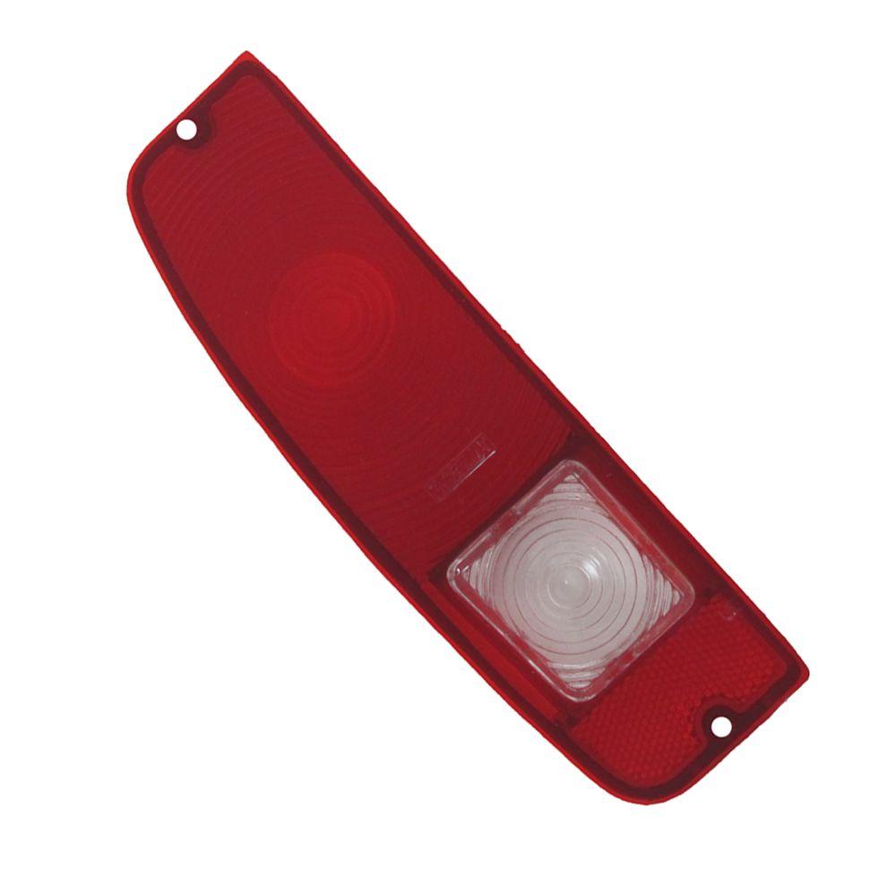 Lente acrílica da lanterna traseira com ré Ford F100 1975 à 1979 e Pampa 1981 à 1988 - Lado do Motorista  - Bunnitu Peças e Acessórios