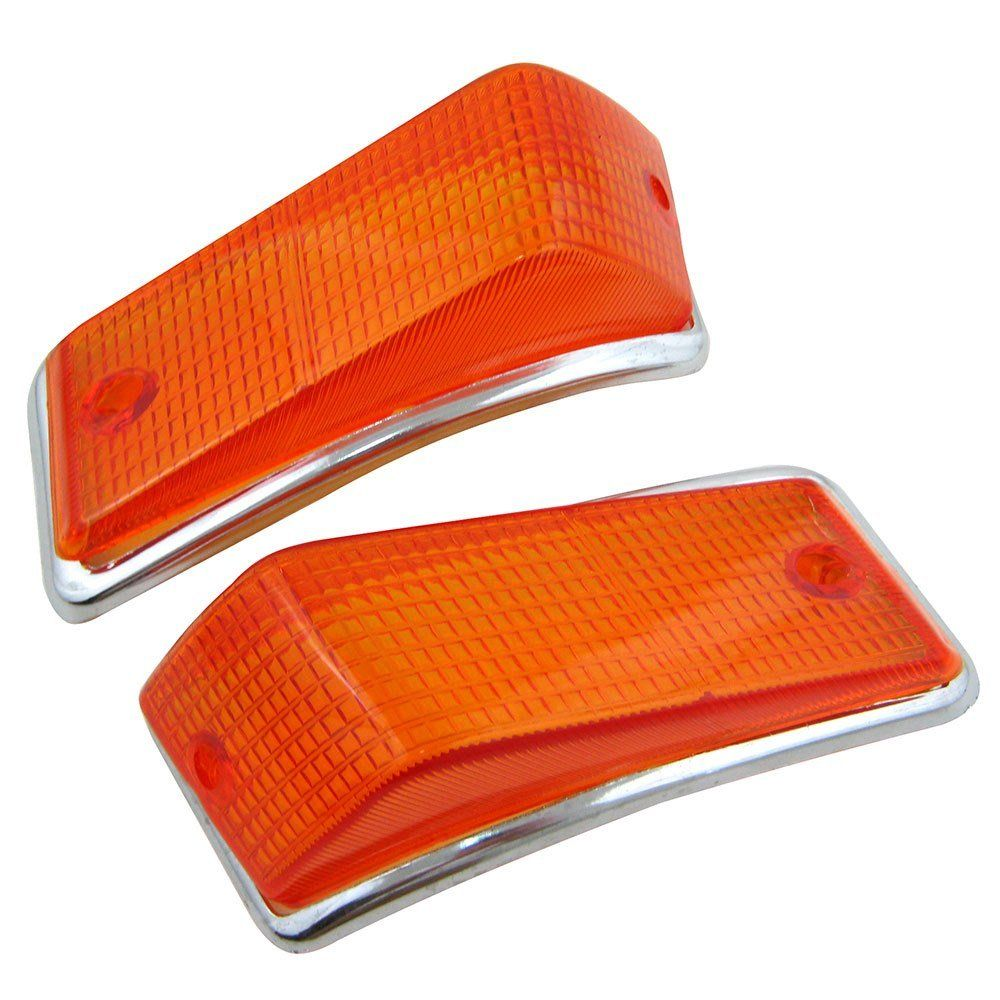Lente Ambar Aro Lanterna Pisca VW Variant TL  Zé do Caixão  - Bunnitu Peças e Acessórios