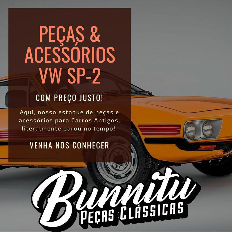 Lente da lanterna de pisca dianteiro para VW Sp2  - Bunnitu Peças e Acessórios