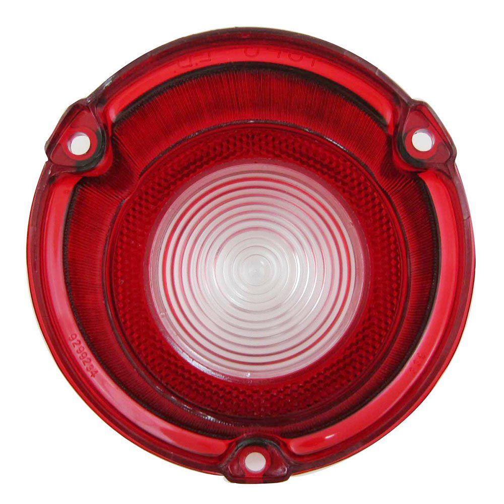 Lente da lanterna traseira acrílica com ré para GM Opala e Caravan 1975 à 1979 - Lado do Passageiro  - Bunnitu Peças e Acessórios