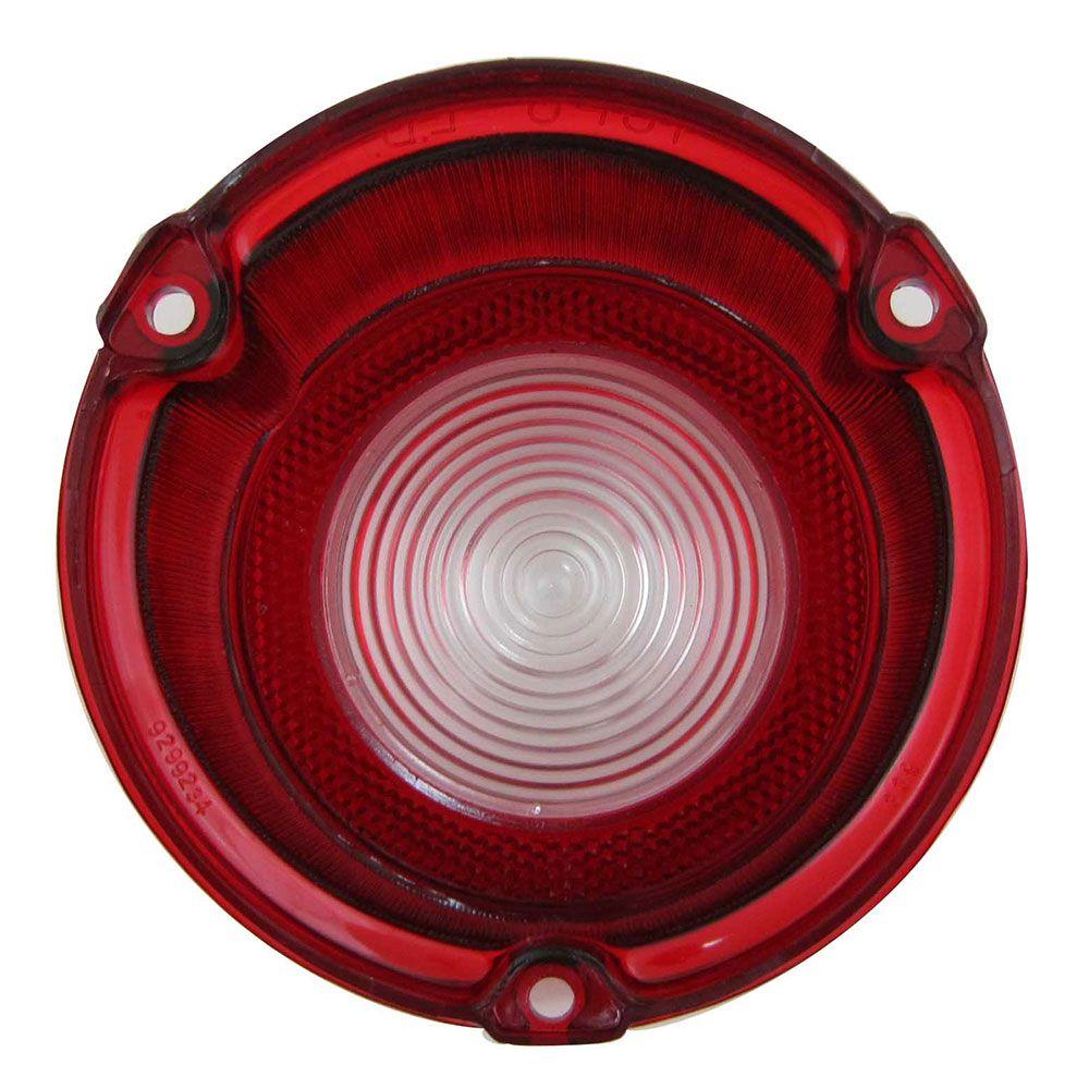 Lente da lanterna traseira com ré para GM Opala e Caravan 1975 à 1979 - Lado do Passageiro  - Bunnitu Peças e Acessórios