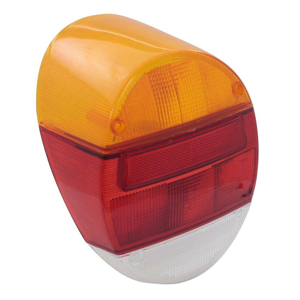 Lente da lanterna traseira mod. acrílica tricolor para VW Fusca 1976 à 1996  - Bunnitu Peças e Acessórios