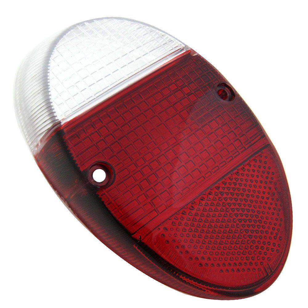 Lente da lanterna traseira modelo rubi cristal  para VW Fusca 1200 e 1300  - Bunnitu Peças e Acessórios