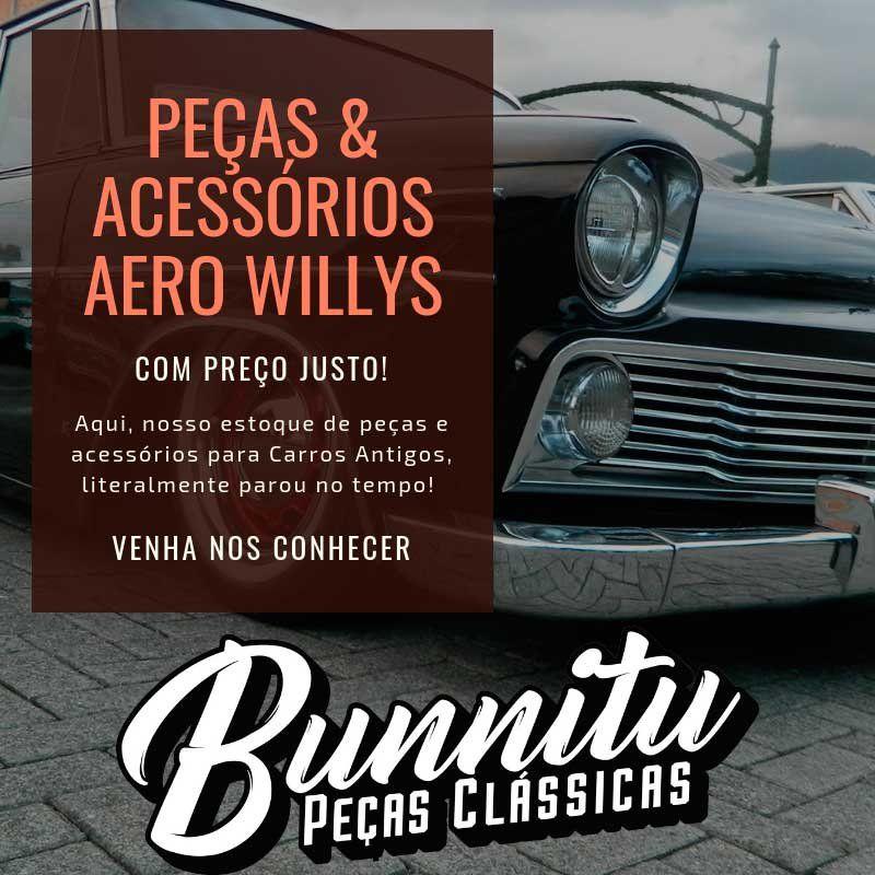 Lente de ré da lanterna para Aero Willys 1965 à 1966  - Bunnitu Peças e Acessórios