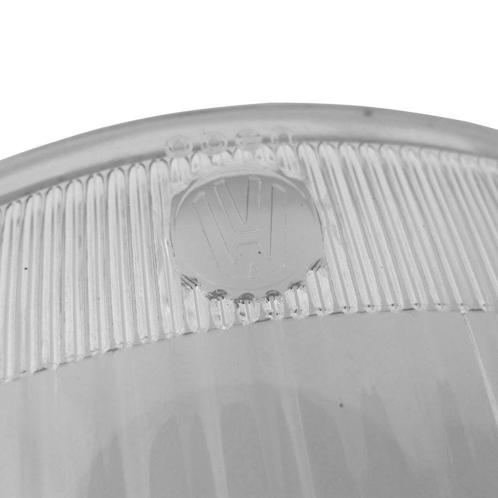 Lente Hella com logo VW do Farol Olho de Boi para VW Fusca Oval 1953 à 1957  - Bunnitu Peças e Acessórios