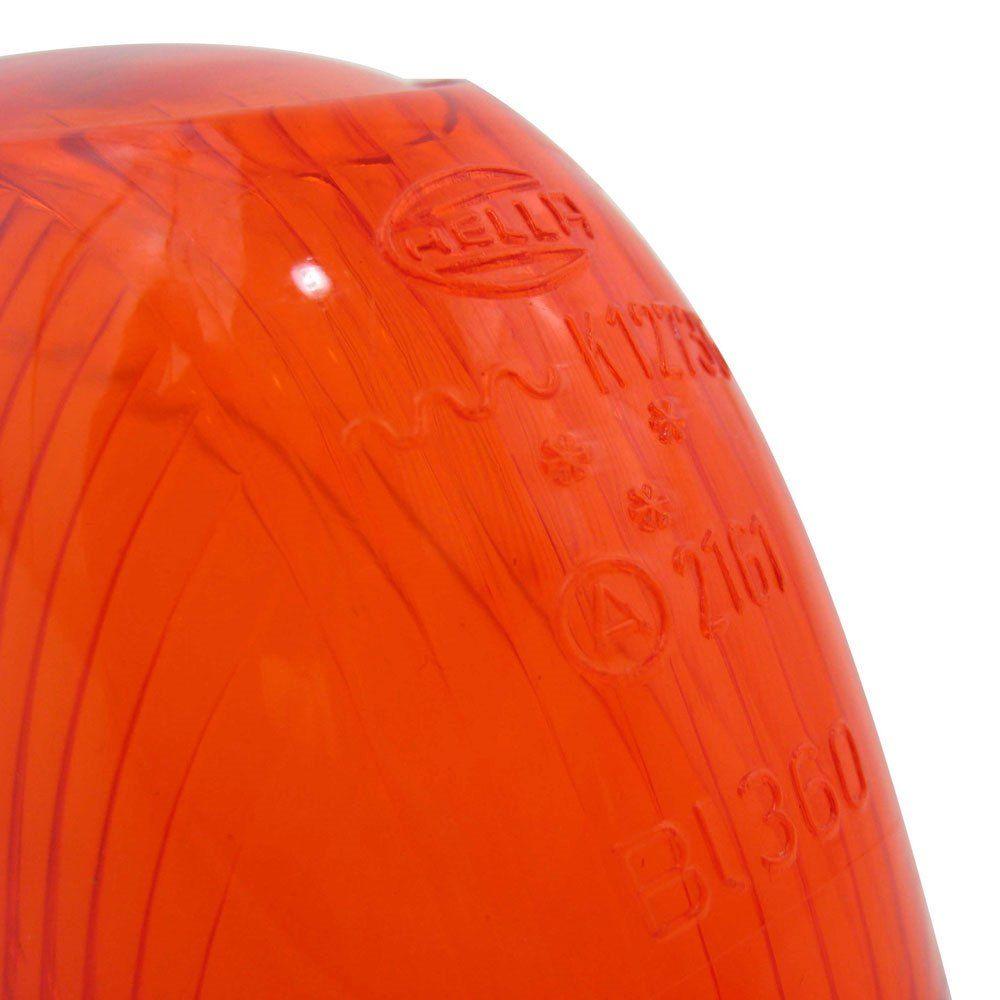 Lente Original Hella para pisca fino cor ambar para VW Fusca 1960 à 1964  - Bunnitu Peças e Acessórios