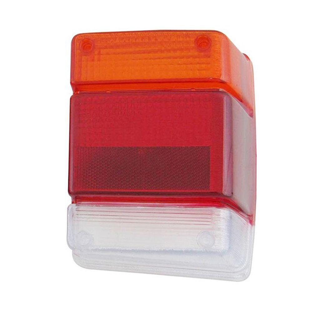 Lente tricolor da lanterna traseira para GM Chevy e Marajó - Lado do Passageiro  - Bunnitu Peças e Acessórios