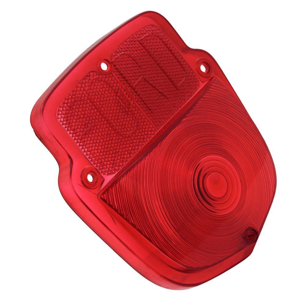 Lente vermelha da lanterna traseira para Ford F350 F600  - Bunnitu Peças e Acessórios