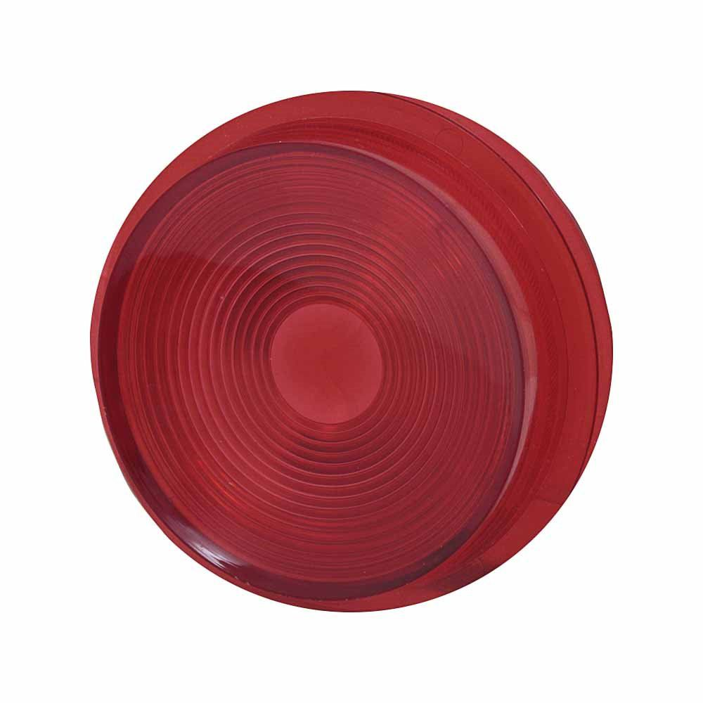 Lente vermelha para lanterna modelo Pirulito  - Bunnitu Peças e Acessórios