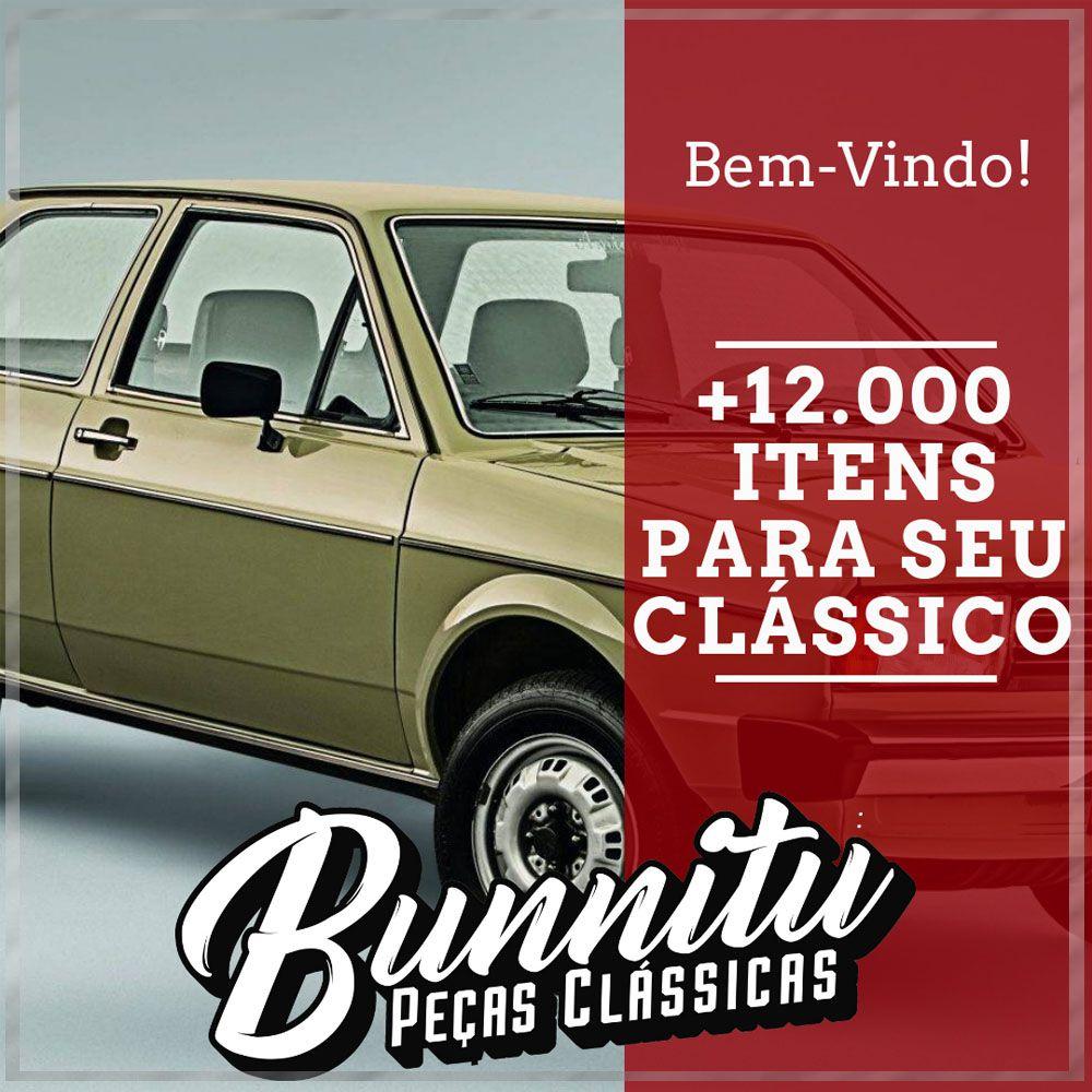 Maçaneta externa com friso de inox e chave VW Parati, Saveiro, Gol, Saveiro até 1987 - Lado Passageiro  - Bunnitu Peças e Acessórios