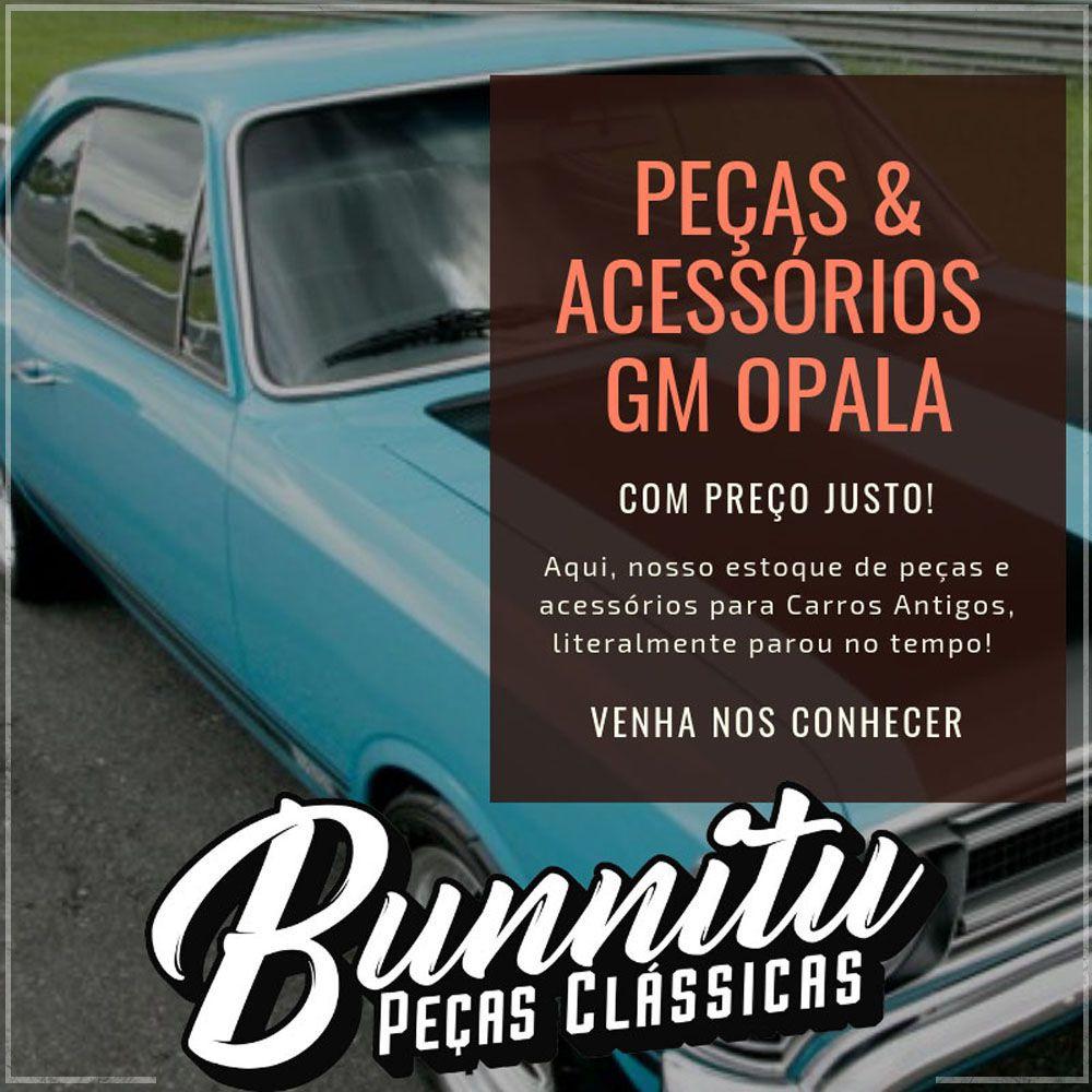 Manivela de abertura dos vidros para GM Opala Caravan e Chevette 1983 em diante na cor marrom  - Bunnitu Peças e Acessórios
