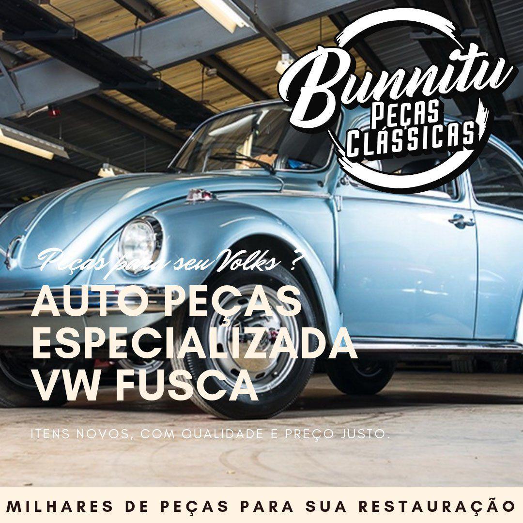 Manopla de cambio cromada modelo logo Paulistarum com rosca 12mm VW Fusca Kombi Karmann Ghia  - Bunnitu Peças e Acessórios