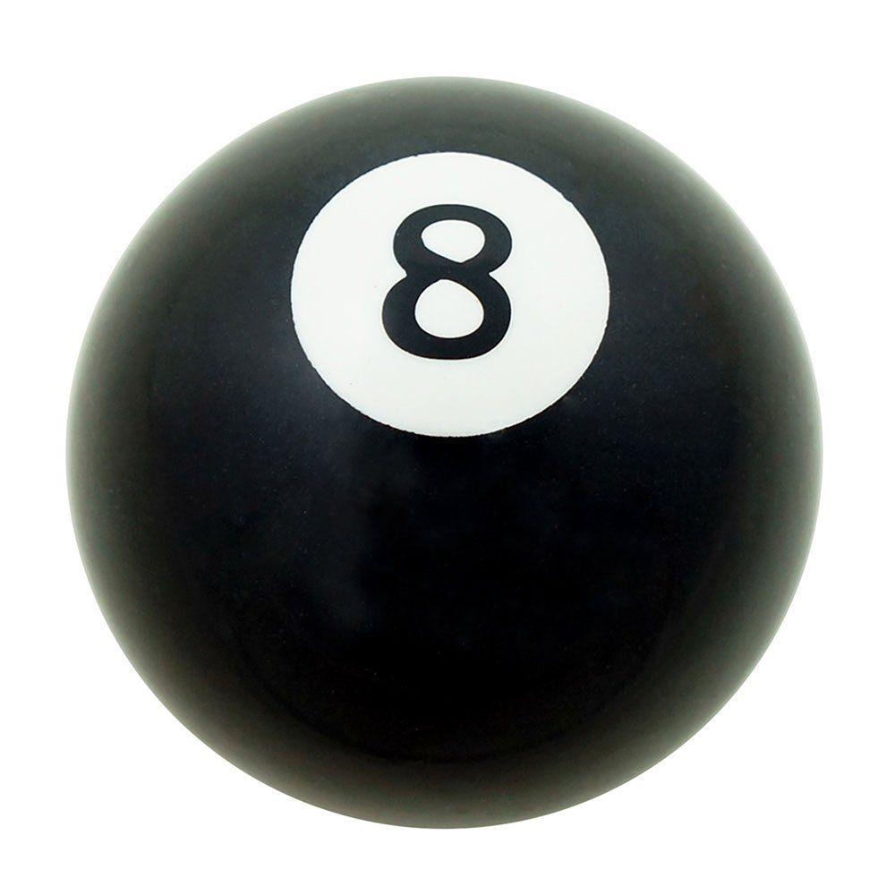 Manopla de câmbio modelo bola de bilhar nº 8 preta  - Bunnitu Peças e Acessórios