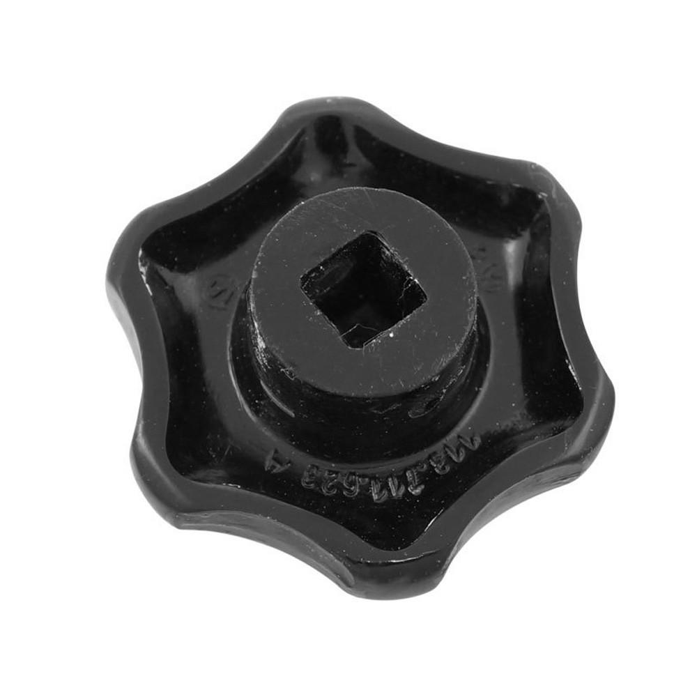 Manopla do ar quente preto VW Fusca Kombi Karmann Ghia  - Bunnitu Peças e Acessórios