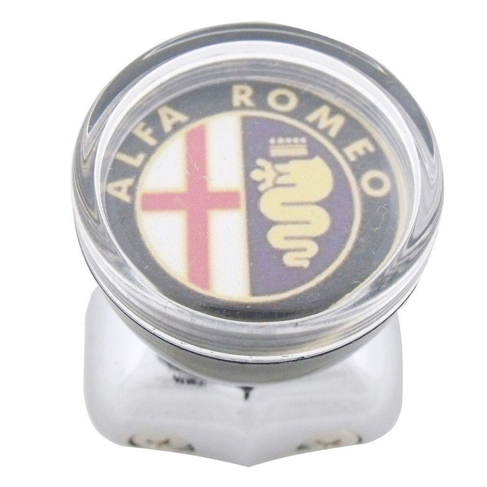 Manopla giratória com logo Alfa Romeo para volante de carro antigo  - Bunnitu Peças e Acessórios