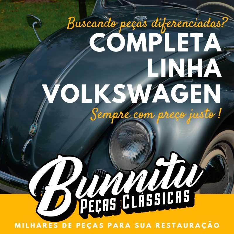 Moldura cromada modelo lisa do emblema de brasão capo VW Fusca  - Bunnitu Peças e Acessórios