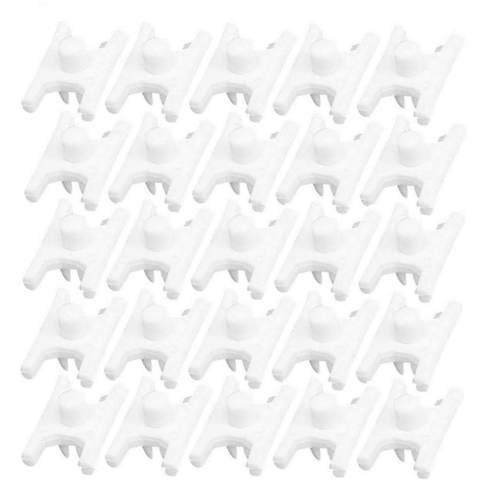 Pacote de grampos plásticos do friso lateral para VW Fusca após 1971  - Bunnitu Peças e Acessórios