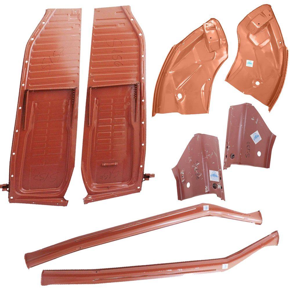 Kit, Assoalho Até 1976 + Caixa De Ar + Pé De Coluna + Remendo Lateral VW Fusca Suspensão Embuchamento - Marca Estriguaru  - Bunnitu Peças e Acessórios
