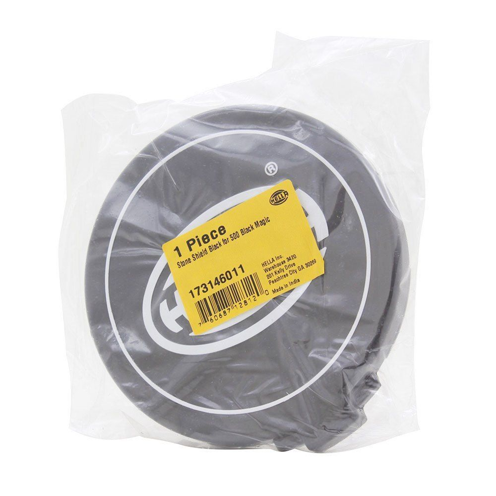 Par, Capa de proteção para farol de milha ou auxiliar Modelo Hella Black Comet 500 na cor preta  - Bunnitu Peças e Acessórios