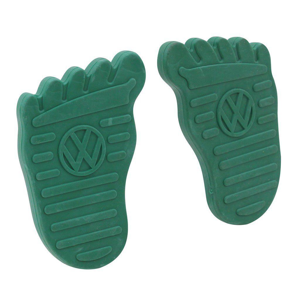 Par Capa Premium Logo VW Modelo Foot Pedal Freio Embreagem Linha VW Ar Verde  - Bunnitu Peças e Acessórios