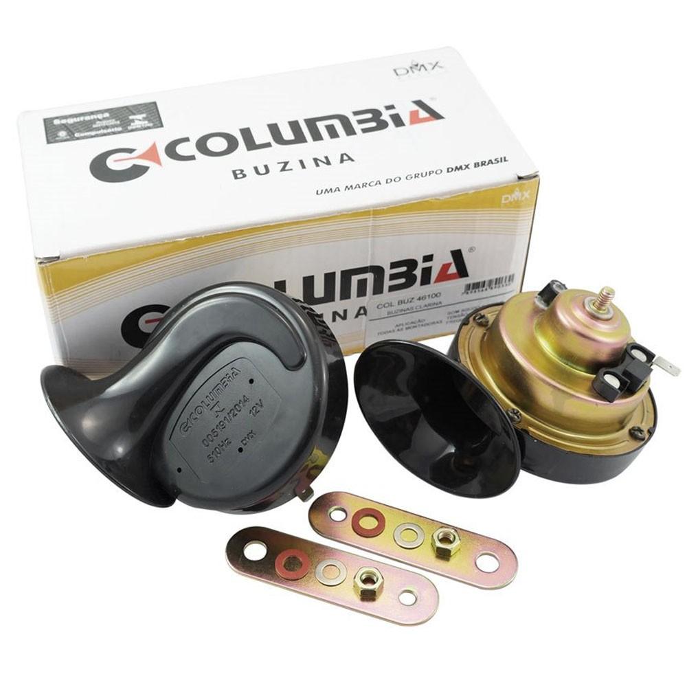 Par de buzinas Columbia modelo caracol 12v  - Bunnitu Peças e Acessórios
