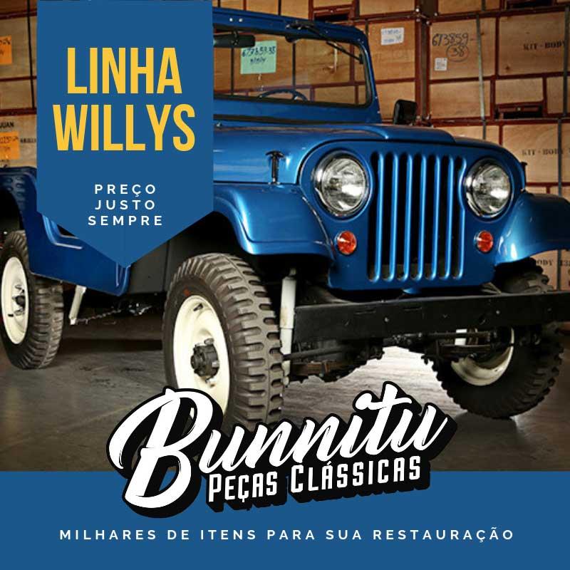 Par de dobradiças pretas do capô para Ford Jeep Willys  - Bunnitu Peças e Acessórios