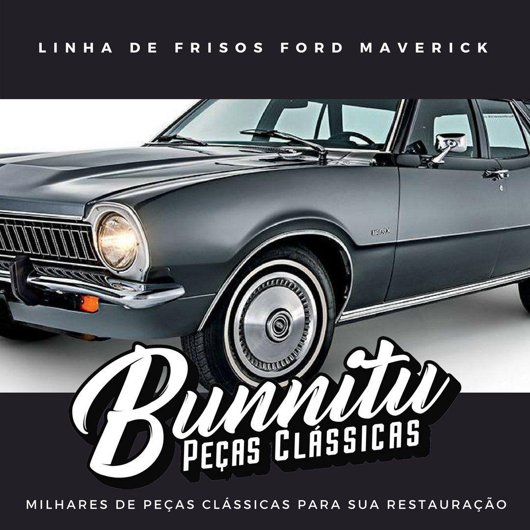 Par de frisos da caixa de ar para Ford Maverick  - Bunnitu Peças e Acessórios