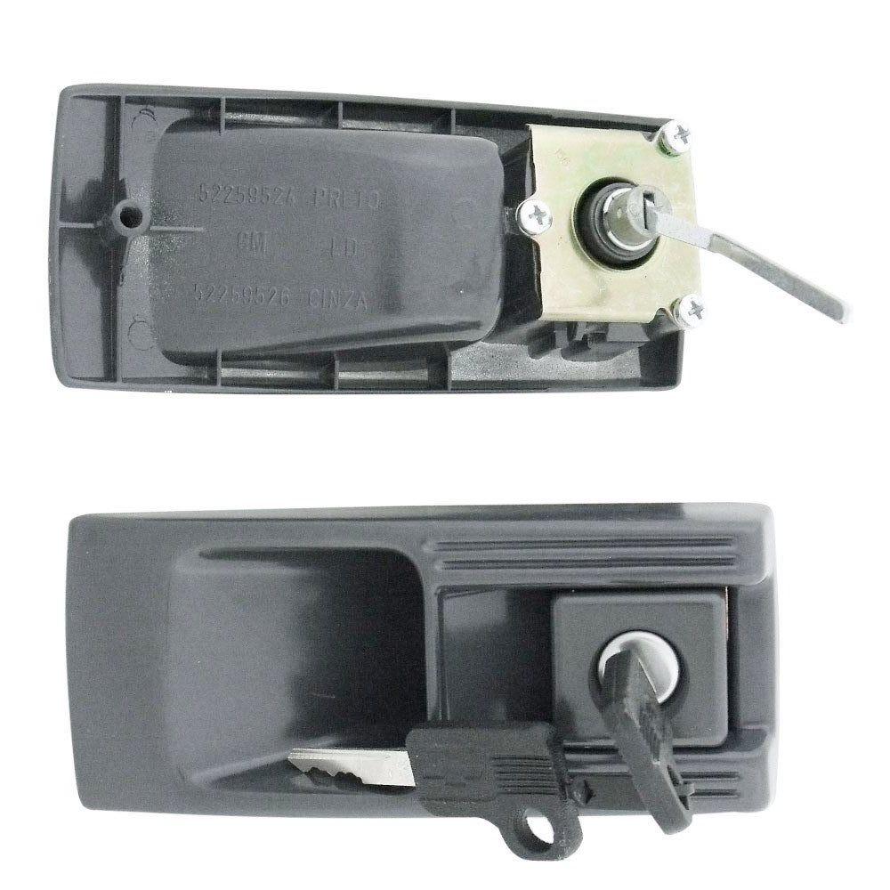 Par de maçanetas Originais GM na cor cinza para Opala e Caravan  - Bunnitu Peças e Acessórios