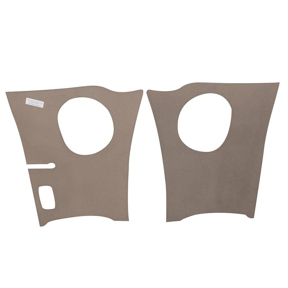Par de revestimentos na cor cinza dianteiros óculos bojo fárol para VW Kombi até 1975  - Bunnitu Peças e Acessórios