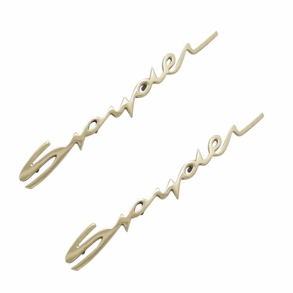 Par Emblema Spyder Dourado Porsche  - Bunnitu Peças e Acessórios