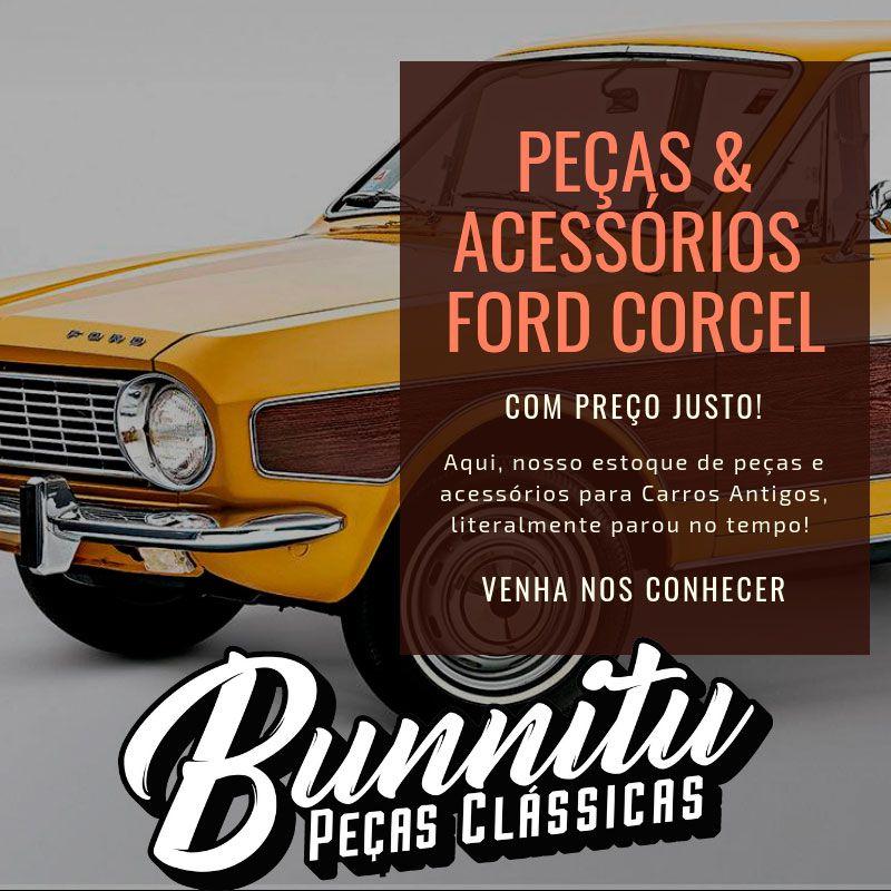 Para Barro Paralama Traseiro Inox Ford Corcel  - Bunnitu Peças e Acessórios