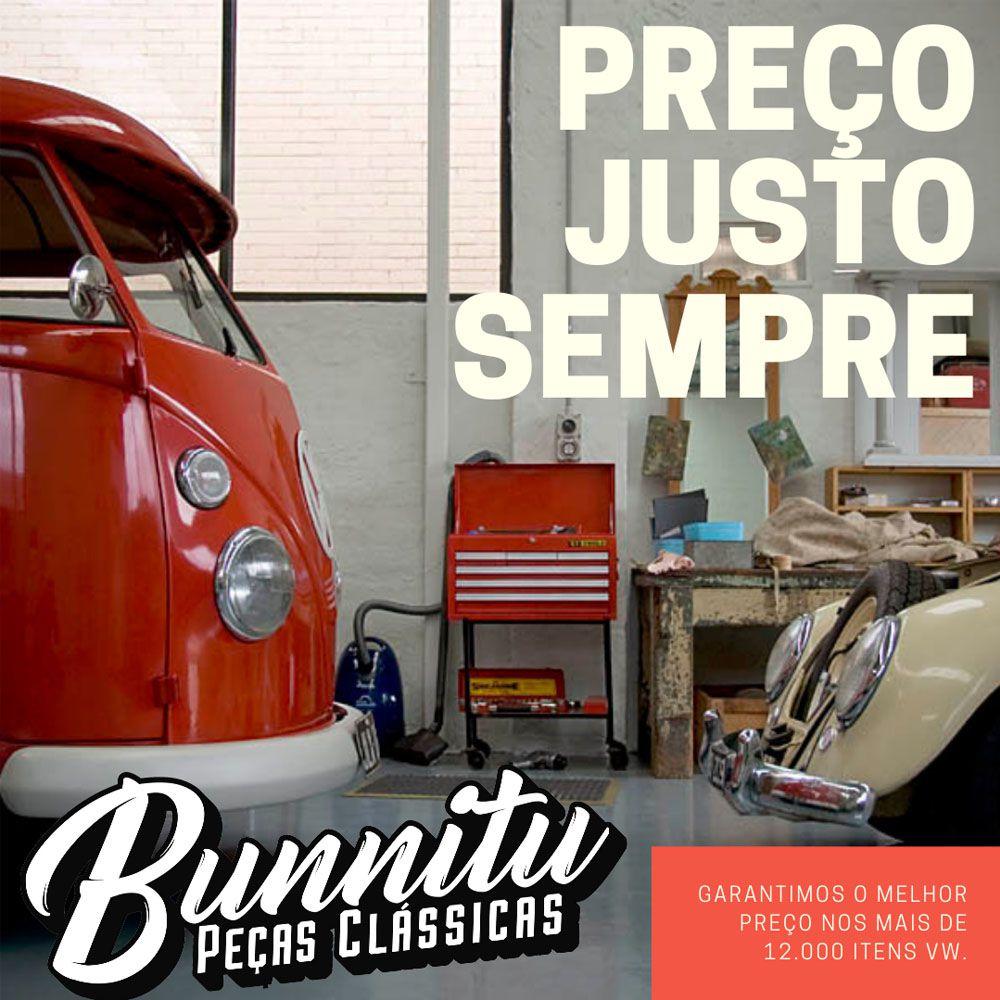 Parafuso 19 mm cromado de fixação da roda 4 furos para VW Fusca, Kombi, Brasília, TL...  - Bunnitu Peças e Acessórios