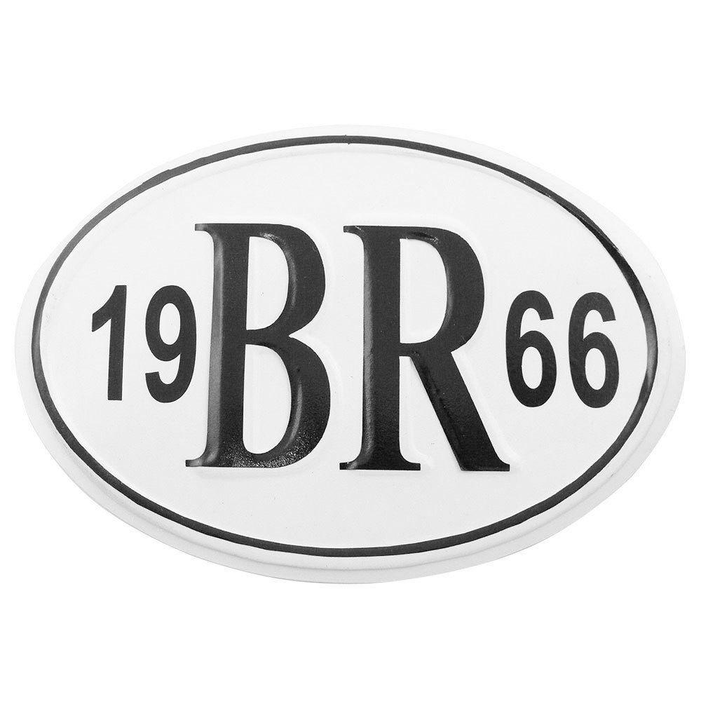 Plaqueta BR 1966 para carros antigos  - Bunnitu Peças e Acessórios