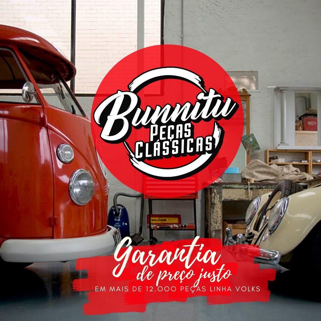 Polaina Paralama inox Modelo Americana Com Logo VW Fusca  - Bunnitu Peças e Acessórios