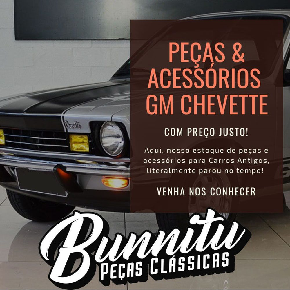 Puxador de porta descanso de braço para GM Chevrolet Chevette e Opala - Lado do Motorista  - Bunnitu Peças e Acessórios