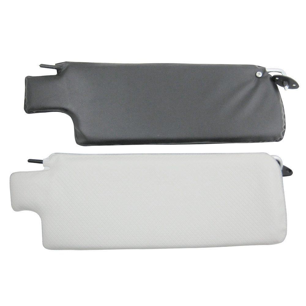 Quebra sol na cor branco com preto para VW Fusca 1978 à 1984  - Bunnitu Peças e Acessórios