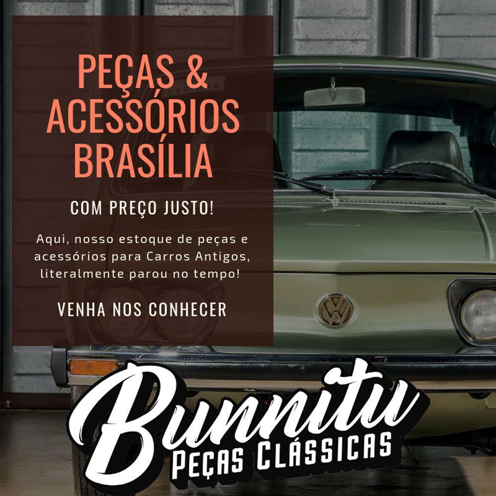 Quebra sol na cor cinza para VW Brasília  - Bunnitu Peças e Acessórios