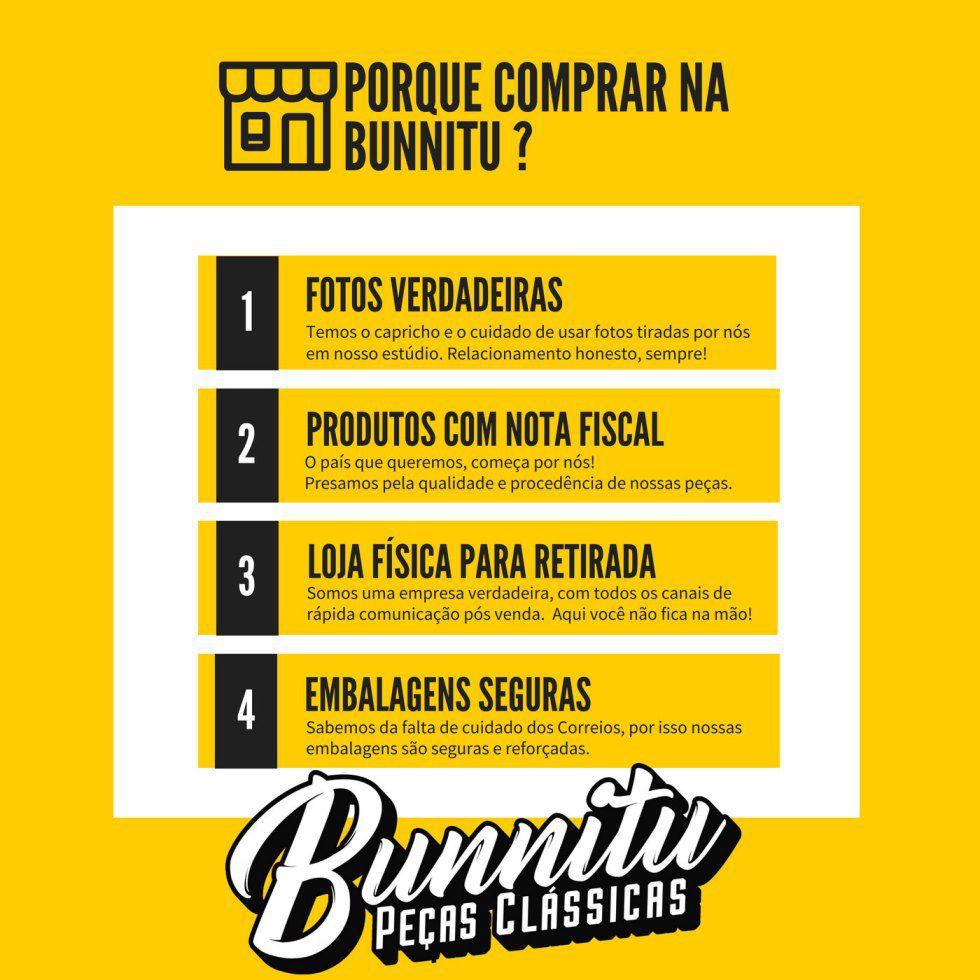 Régua canaleta de trilho do banco para VW Fusca, Brasilia, Variant e TL  - Bunnitu Peças e Acessórios