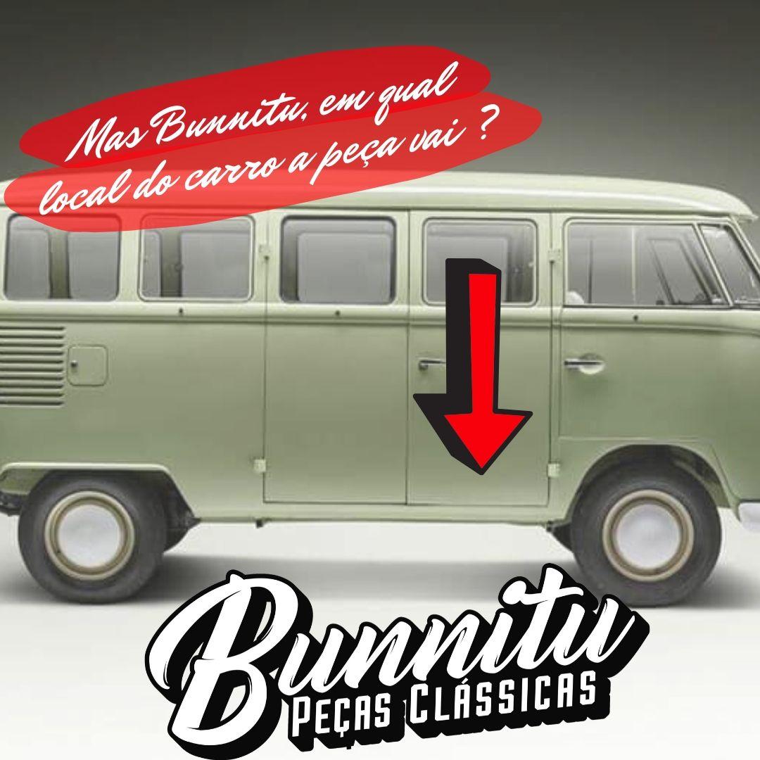 Remendo de lata da porta salão VW Kombi até 1975 - Marca Estriguaru - Porta Dianteira  - Bunnitu Peças e Acessórios