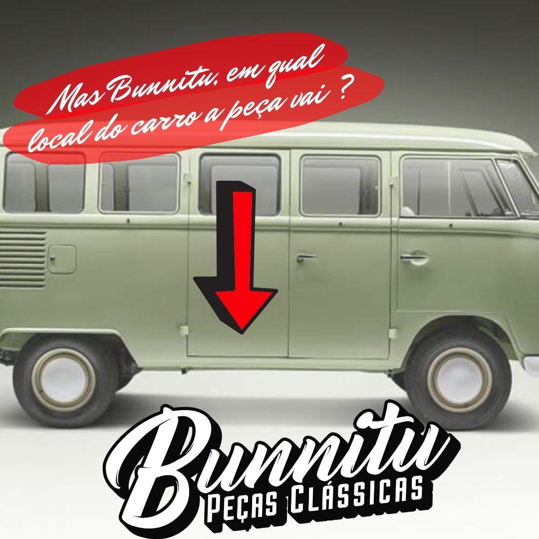 Remendo de lata da porta salão VW Kombi até 1975 - Marca Estriguaru - Porta traseira  - Bunnitu Peças e Acessórios