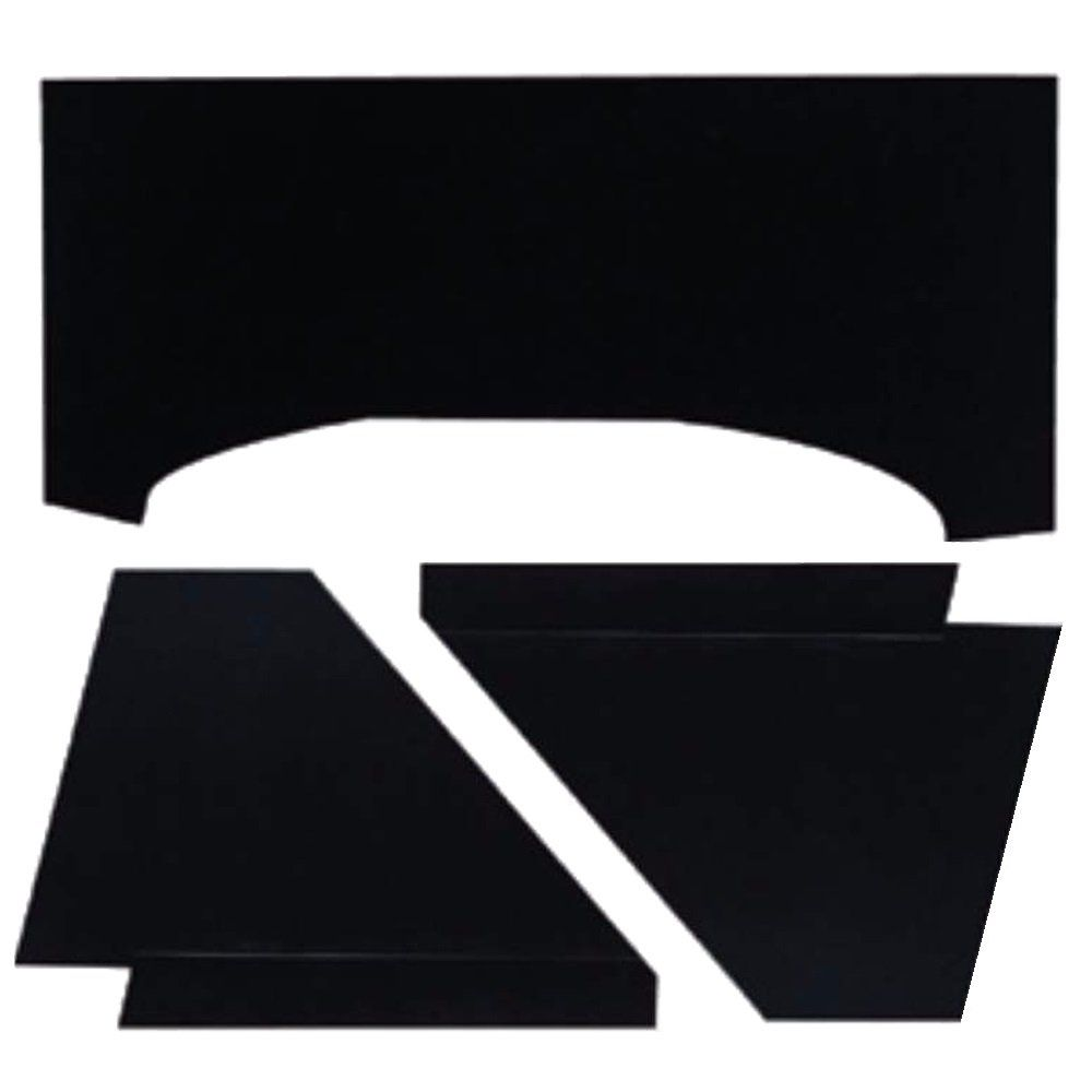 Revestimento anti ruído preto cofre do motor VW Fusca  - Bunnitu Peças e Acessórios