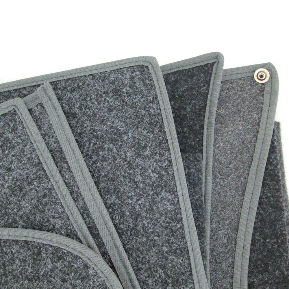 Revestimento modelado em carpete na cor grafite para VW Fusca  - Bunnitu Peças e Acessórios