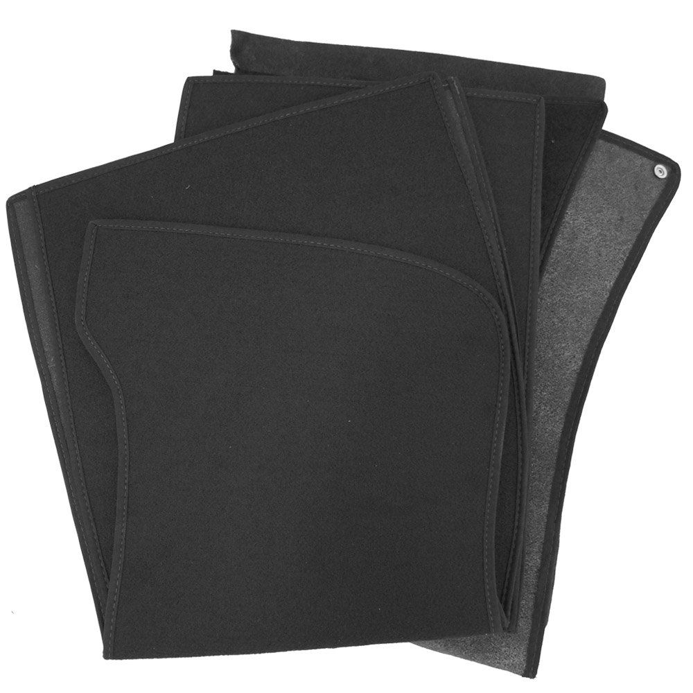 Revestimento modelado em carpete na cor preta para VW Fusca  - Bunnitu Peças e Acessórios