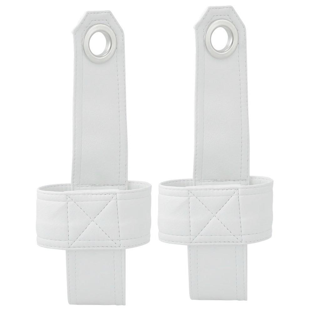 Suporte de cinto de segurança em courvin branco para coluna lateral autos antigos e VW Fusca  - Bunnitu Peças e Acessórios