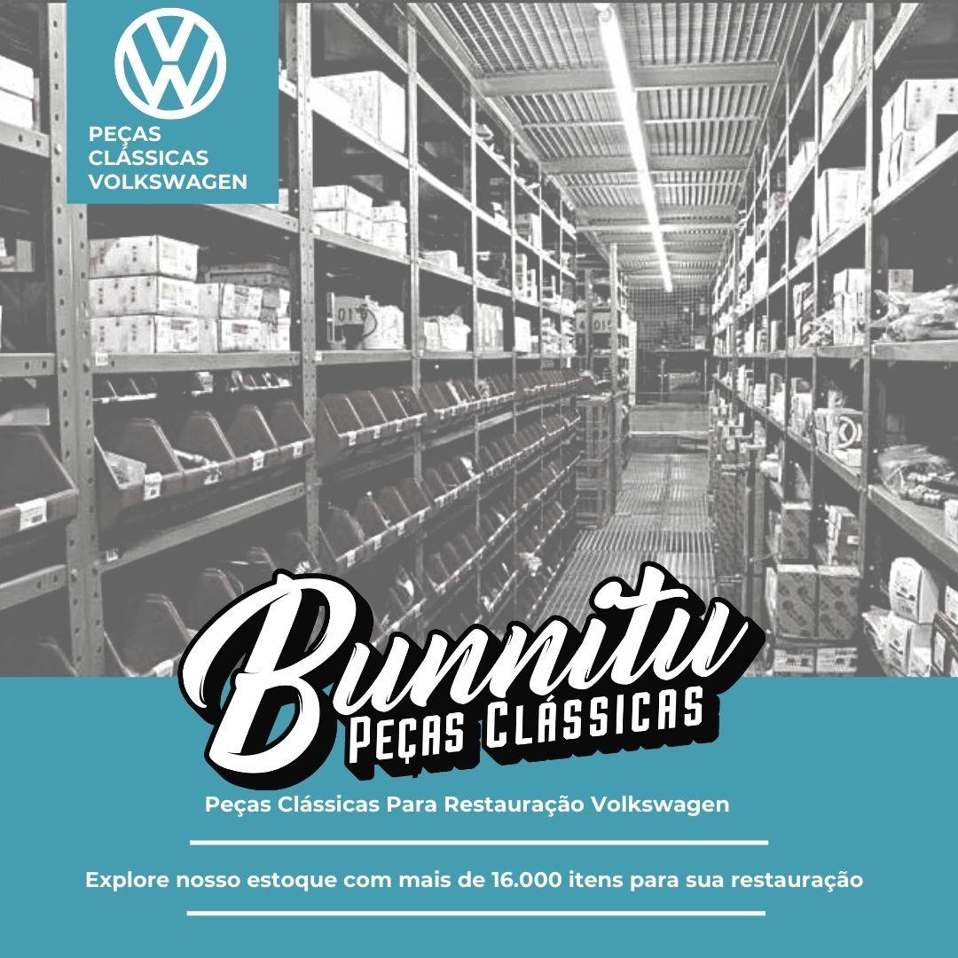 Suporte Inox de Placa Traseira VW Fusca 1965 à 1969  - Bunnitu Peças e Acessórios